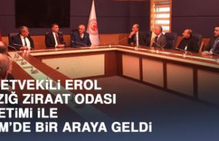 Milletvekili Erol, Elazığ Ziraat Odası Yönetimi...