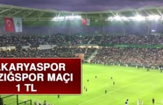 Sakaryaspor-Elazığspor Maçı 1 TL