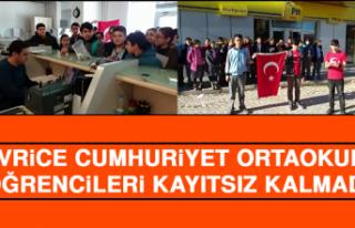 Sivrice Cumhuriyet Ortaokulu Öğrencileri Kayıtsız...