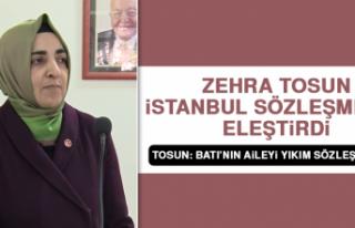 Tosun, İstanbul Sözleşmesini Eleştirdi