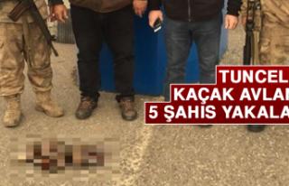 Tunceli'de Kaçak Avlanan 5 Şahıs Yakalandı