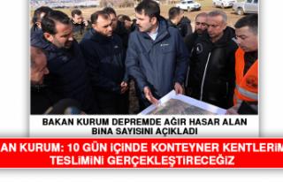 Bakan Kurum Depremde Ağır Hasar Alan Bina Sayısını...