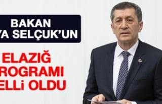 Bakan Ziya Selçuk'un Elazığ Programı Belli...