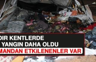 Çadır Kentlerde Bir Yangın Daha Çıktı