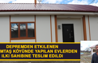 Çevrimtaş Köyünde Yapılan Evlerden İlki Sahibine...