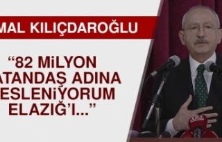 CHP Genel Başkanı Kılıçdaroğlu, Elazığ'dan...