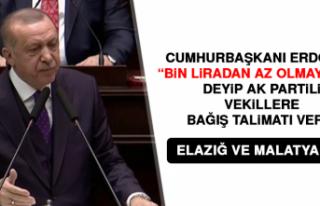 Cumhurbaşkanı Erdoğan AK Partili Vekillere Bağış...