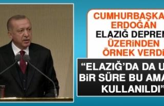 Cumhurbaşkanı Erdoğan, Elazığ Depremi Üzerinden...