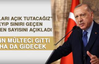 Cumhurbaşkanı Erdoğan Sınırı Geçen Göçmen...
