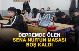 Depremde Ölen Sena Nur'un Masası Boş Kaldı