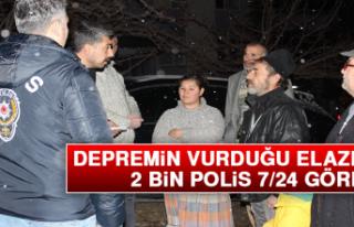 Depremin Vurduğu Elazığ'da 2 Bin Polis 7/24...