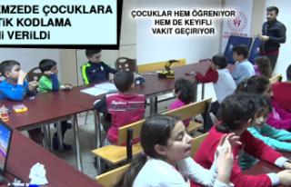 Depremzede Çocuklara Robotik Kodlama Eğitimi Verildi