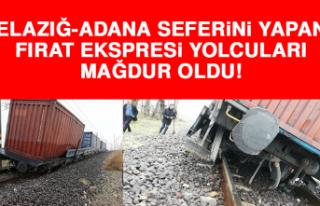 Elazığ - Adana seferini yapan Fırat Ekspresi yolcuları...