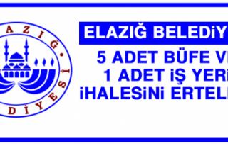 Elazığ Belediyesi 5 Adet Büfe ve 1 Adet İş Yeri...