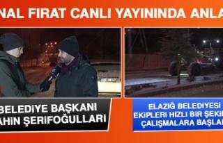 Elazığ Belediyesi Ekipleri Hızlı Bir Şekilde...