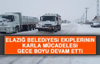 Elazığ Belediyesi Ekiplerinin Karla Mücadelesi...