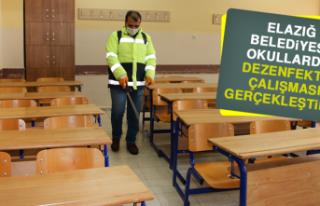 Elazığ Belediyesi Okullarda Dezenfekte Çalışması...