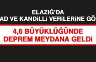 Elazığ'da 4,6 Büyüklüğünde Deprem Oldu!