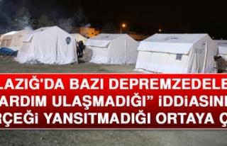"""Elazığ'da """"Bazı Depremzedelere Yardım..."""