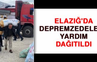 Elazığ'da Depremzedelere Yardım Dağıtıldı