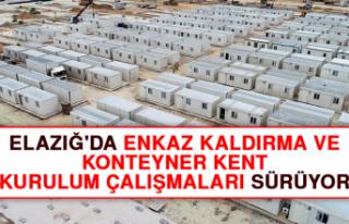 Elazığ'da Enkaz Kaldırma ve Konteyner Kent...