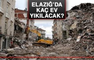 Elazığ'da Kaç Ev Yıkılacak? İşte Son Rakamlar!