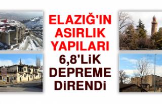 Elazığ'ın Asırlık Yapıları 6,8'lik...