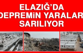 Elazığ'da Depremin Yaraları Sarılıyor