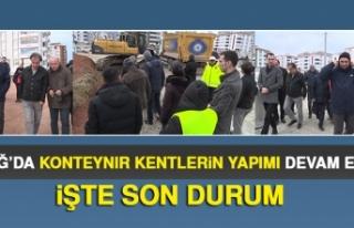 Elazığ'da Konteynır Kentlerin Yapımı Devam...