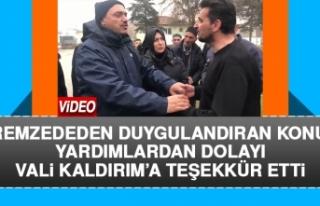 Elazığlı Depremzededen Vali Kaldırım'a Duygulandıran...