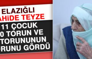 Elazığlı Zahide Teyze, 11 Çocuk, 50 Torun Ve 3...