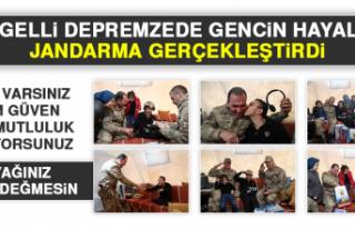 Engelli Depremzede Gencin Hayalini Jandarma Gerçekleştirdi