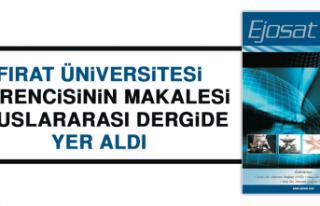 Fırat Üniversitesi Öğrencisinden Bir Başarı...