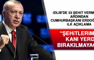 İdlib'le İlgili Cumhurbaşkanı Erdoğan'dan...