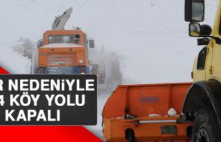 Kar Nedeniyle 314 Köy Yolu Kapalı