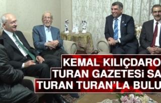 Kemal Kılıçdaroğlu, Turan Gazetesi Sahibi Turan...