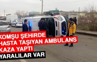 Komşu Şehirde Hasta Taşıyan Ambulans Kaza Yaptı