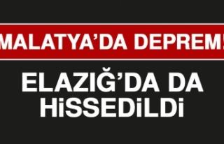 Malatya'da Meydana Gelen Deprem Elazığ'da...