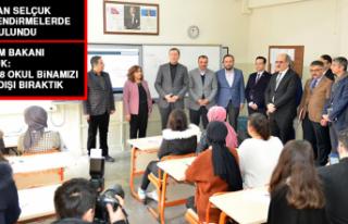 """Milli Eğitim Bakanı Selçuk: """"Bölgede 98 okul..."""
