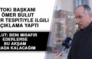 TOKİ Başkanı Ömer Bulut Hasar Tespitiyle İlgili...