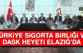 Türkiye Sigorta Birliği ve DASK Heyeti Elazığ'da