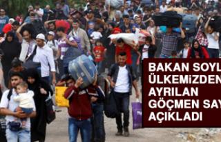 Bakan Soylu, Ülkemizden Ayrılan Göçmen Sayısını...