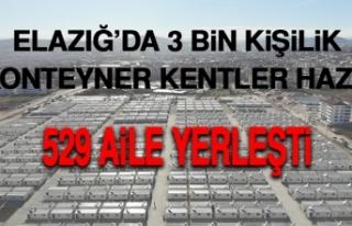 Deprem Bölgesi Elazığ'da 3 Bin Kişilik Konteyner...