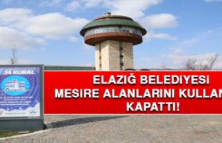 Elazığ Belediyesi Mesire Alanlarını Kullanıma...