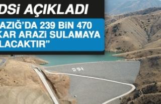 """Elazığ'da 239 Bin 470 Dekar Arazi Sulamaya..."