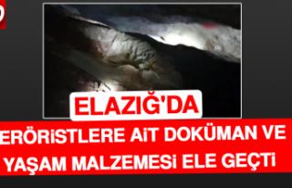 Elazığ'da Teröristlere Ait Doküman ve Yaşam...