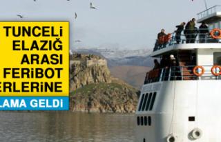 Elazığ -Tunceli Arası Feribot Seferlerine Kısıtlama...