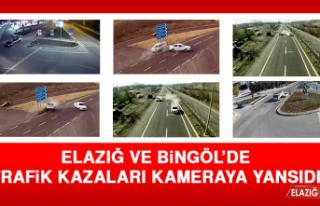 Elazığ ve Bingöl'de Trafik Kazaları Kameraya...