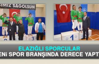 Elazığlı Sporcular Yeni Spor Branşında Derece...