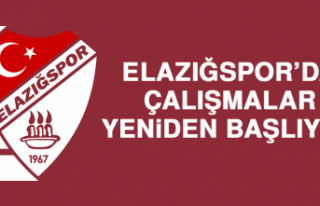 Elazığspor'da Çalışmalar Yeniden Başlıyor